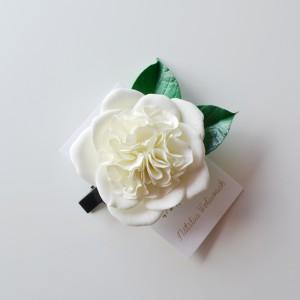 Ślubna spinka - róża angielska