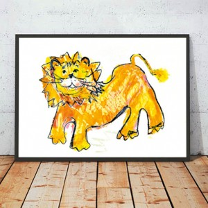 plakat z lwem, obrazek dla chłopca, dekoracja do pokoju dzieci, lew plakat, obrazek dla dziewczynki