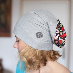 czapka damska dzianinowa dresowa