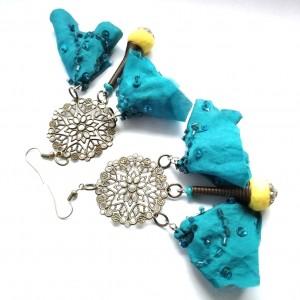 kolczyki handmade w stylu boho