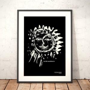 30x40 plakat skandynawski styl, czarno biały plakat do sypialni, słońce plakat, księżyc plakat na ścianę