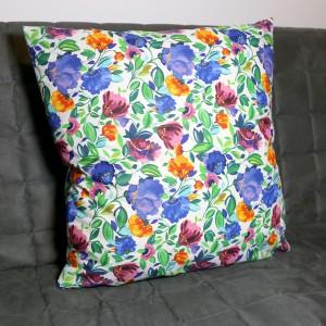 Kwiatowa poszewka na poduszkę bawełna 40 x 40
