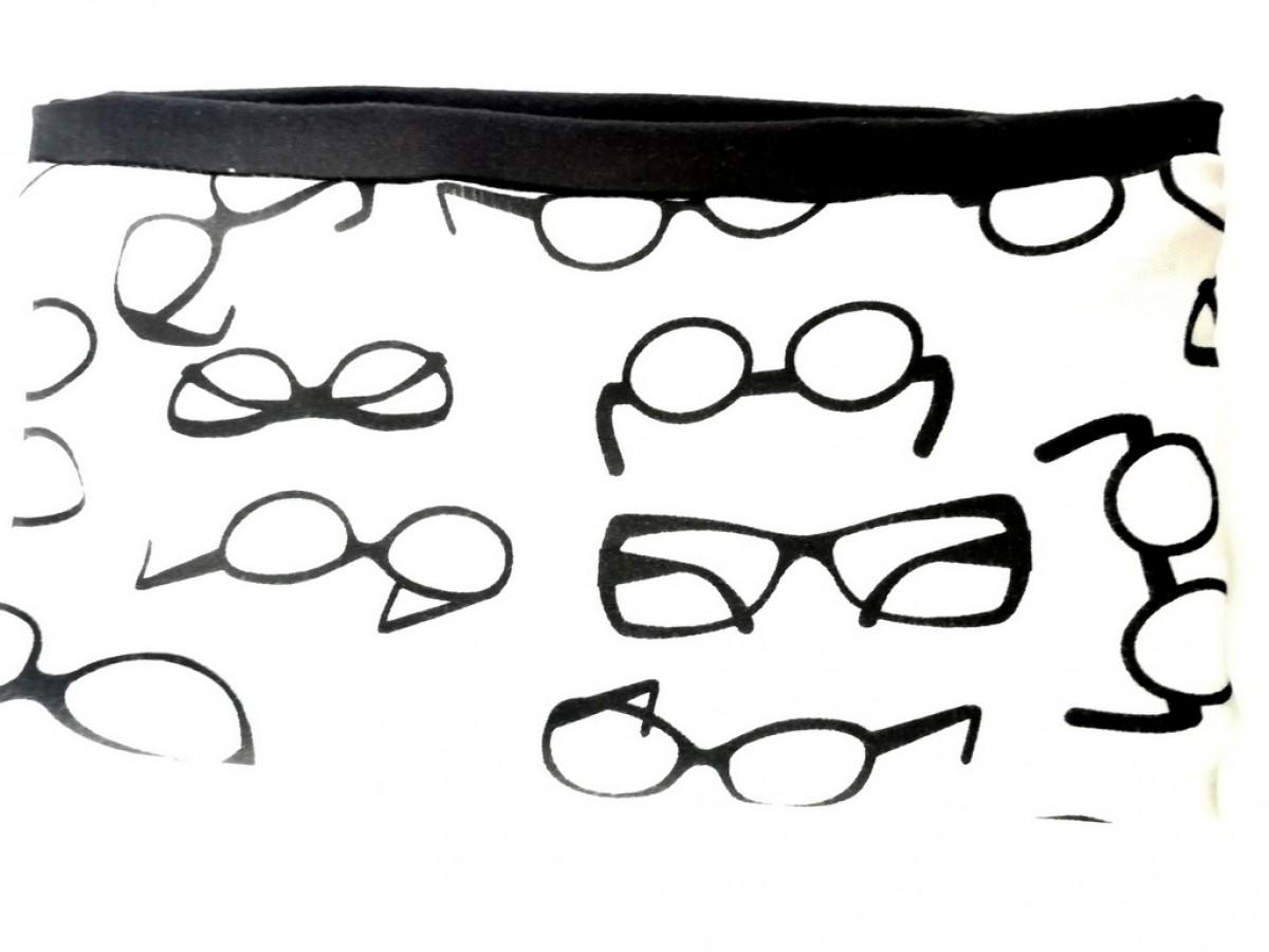 szeroka sportowa opaska w okulary dzianina bawełna