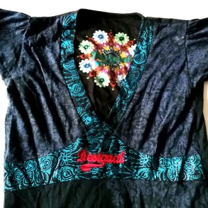 sukienka desigual kolorowa letnia bawełna kwiaty