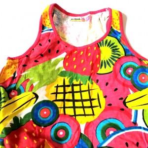 desigual tunika kolorowa owoce bawełna