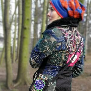 torebka damska haftowana etniczna orientalna na ramię
