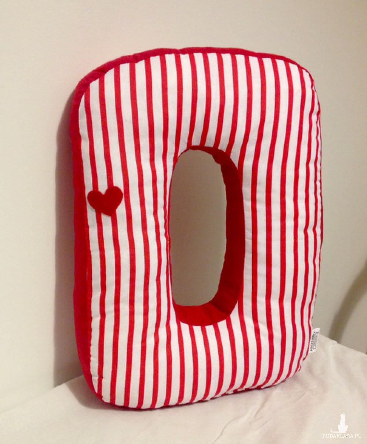 Poduszka duża litera O 40 cm cyfra 0