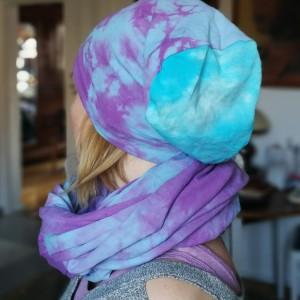 dzianinowy damski bawełniany dresowy komplet