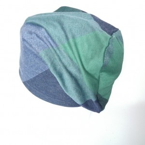 czapka damska dzianinowa w kratkę smerfetka długa