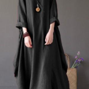 czarna sukienka oversize bawełna