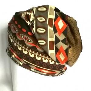czapka damska bawełna dzianina orient boho bieganie