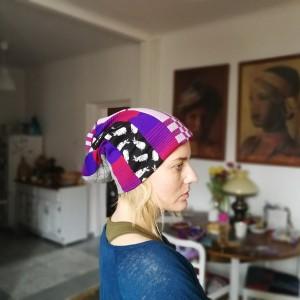czapka patchworkowa ciepła zimowa