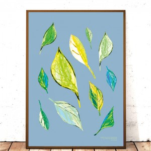 30x40 plakat do pokoju, ładny plakat liście, liście obraz do sypialni, liście grafika na ścianę