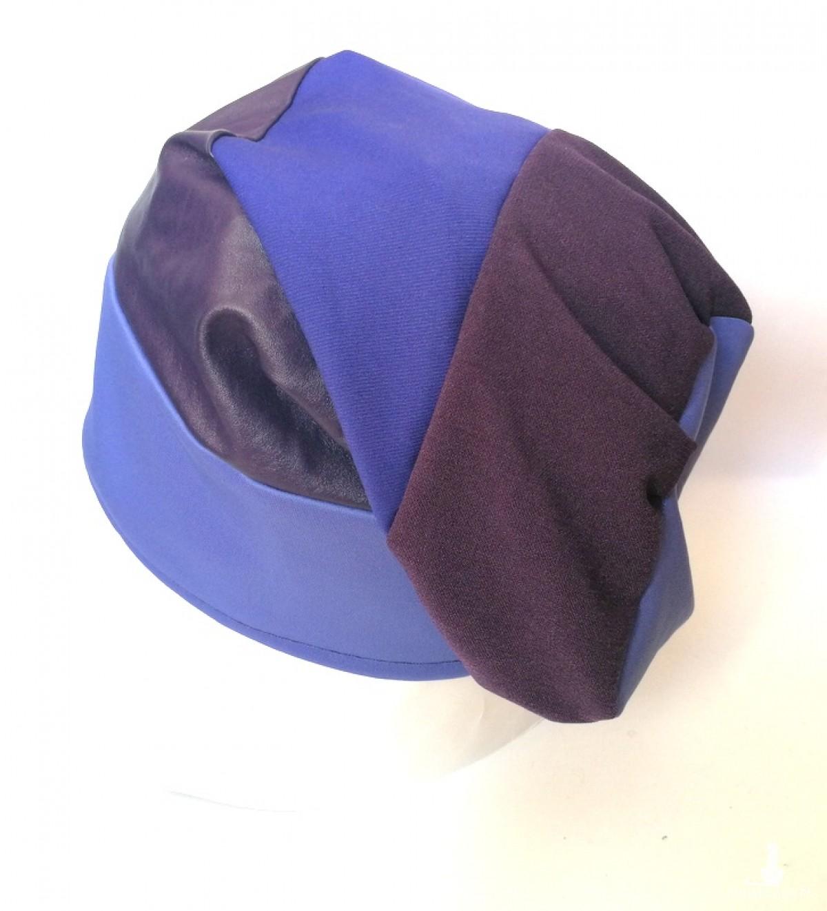czapka duża smerfetka niebiesko-fioletowa