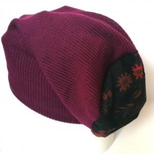 czapka damska wełna orient amarant