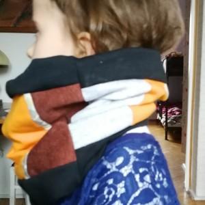 komin dziecięcy wiosenny patchwork