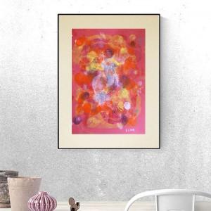nowoczesna grafika na ścianę, kolorowa abstrakcja, dekoracja do loftu, abstrakcyjny rysunek do pokoju