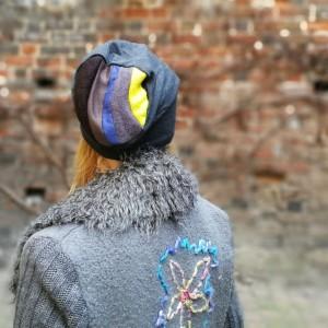czapka damska szara na małą głowę