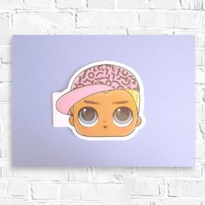 lol surprise plakat a3, grafika do pokoju dziewczynki, obrazek z lol surprise
