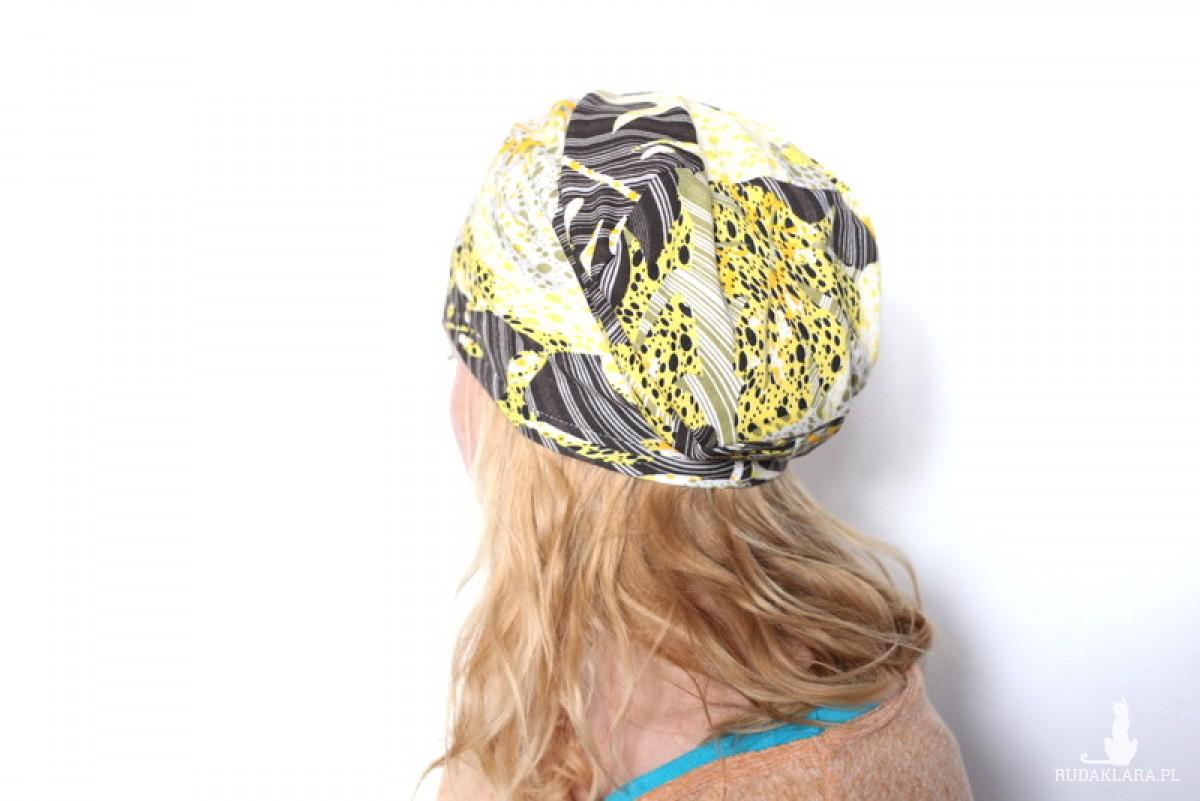 czapka damska handmade oko Bazyliszka