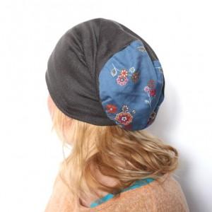 czapka damska handmade dresowa z dzianiny swetrowej
