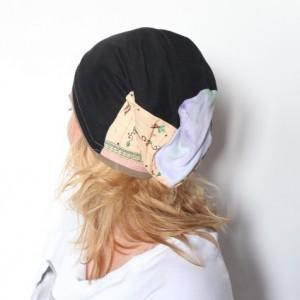 wiosenna patchworkowa czapka damska