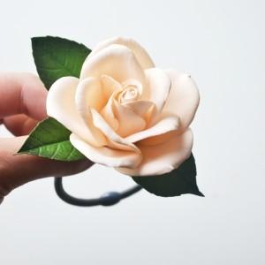 Gumka do włosów Peach rose