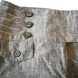 szare spodnie len bawełna szerokie eleganckie lato