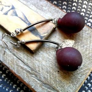 kolczyki wiszące winogrona lekkie długie