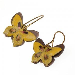 Kolczyki z żółtymi motylami c319