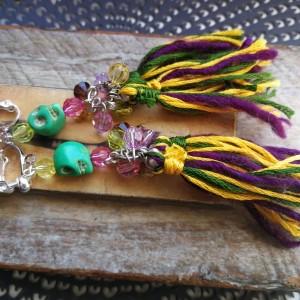 klipsy koraliki długie etno boho