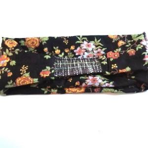 opaska damska materiał gumka kwiaty wiosna dredy