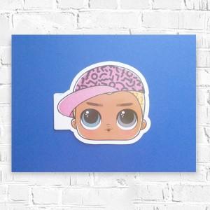rysunek z dziewczynką, obrazek dla  dziewczynki, dziewczynka rysunek, kolorowy rysunek pastele olejne, rysunek w ramce