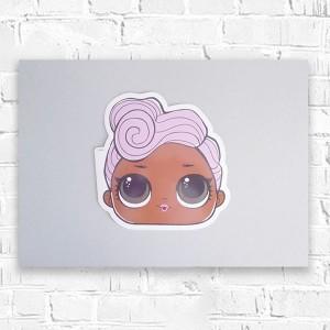 kolorowy rysunek z Pippi, kolorowy obrazek dla dziewczynki, obrazek z dziewczynką