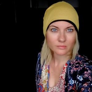 czapka damska zółta rower wiosna sport