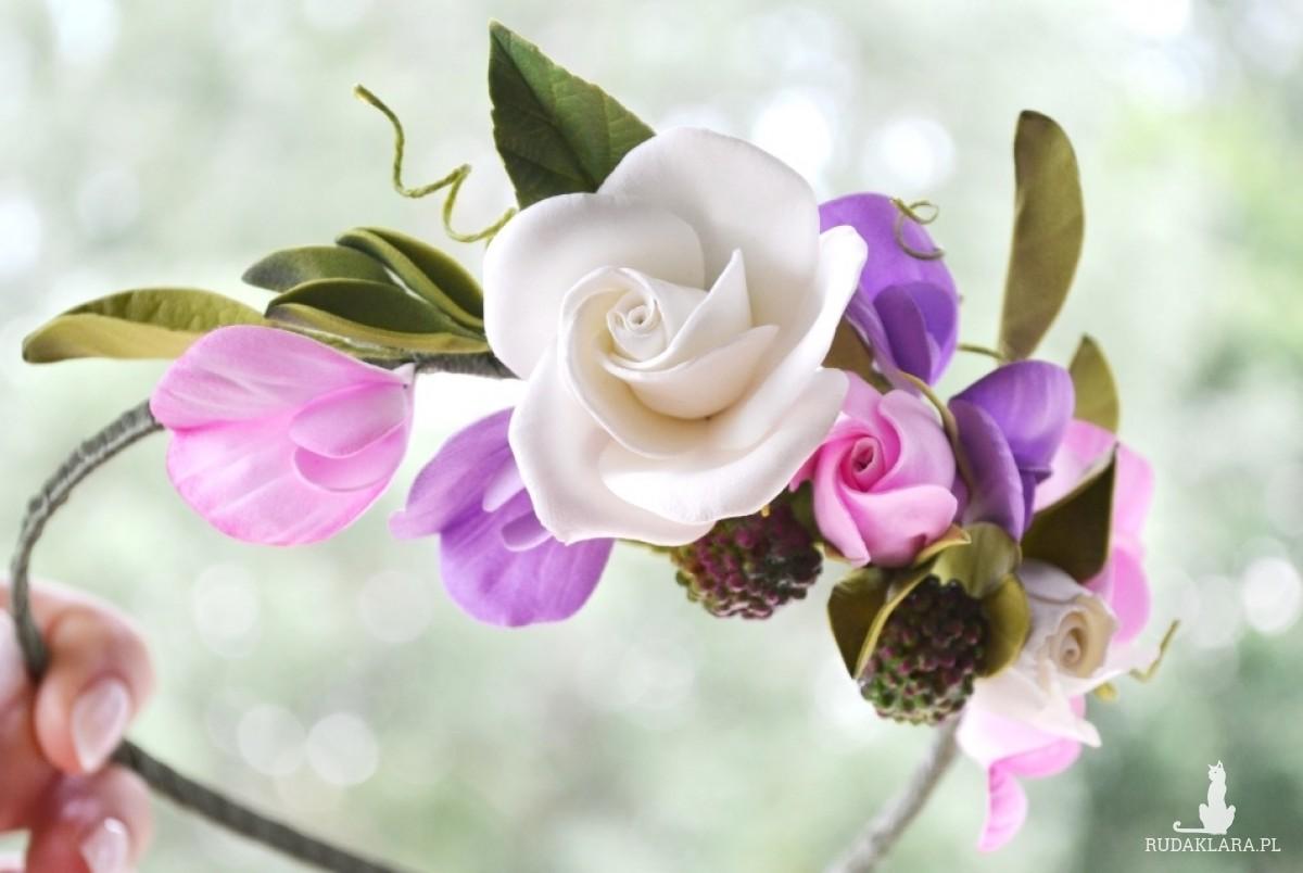 Opaska Pudrowe róże