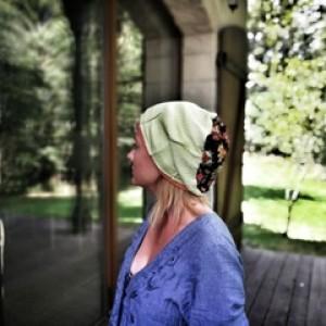 czapka damska duza etno boho bawełna