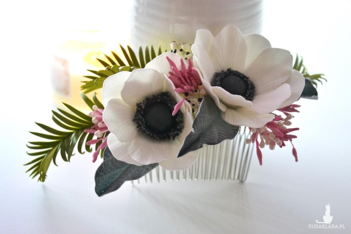 grzebyk do włosów Anemone flower