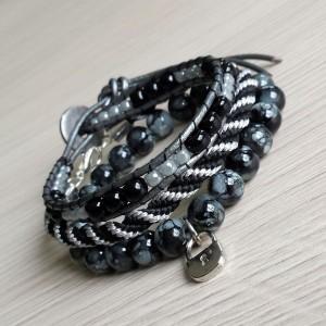 Zestaw elegance black & silver