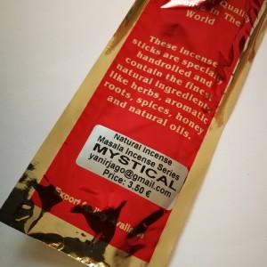 Naturalne ręcznie robione kadzidła proszkowe- zapach mystical