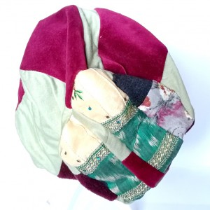 czapka damska boho etno smerfetka handmade patchwork