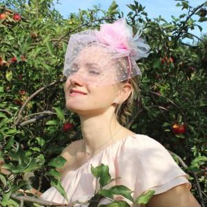 Opaska do włosów Różowa Ważka