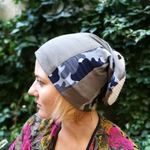 czapka unisex wojskowa moro patchwork miękka