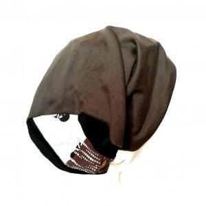 czapka szara uniwersalna dzianina miękka sport