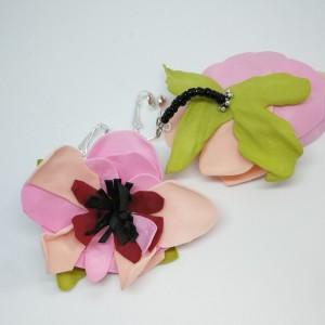klipsy lekkie boho kwiaty orient