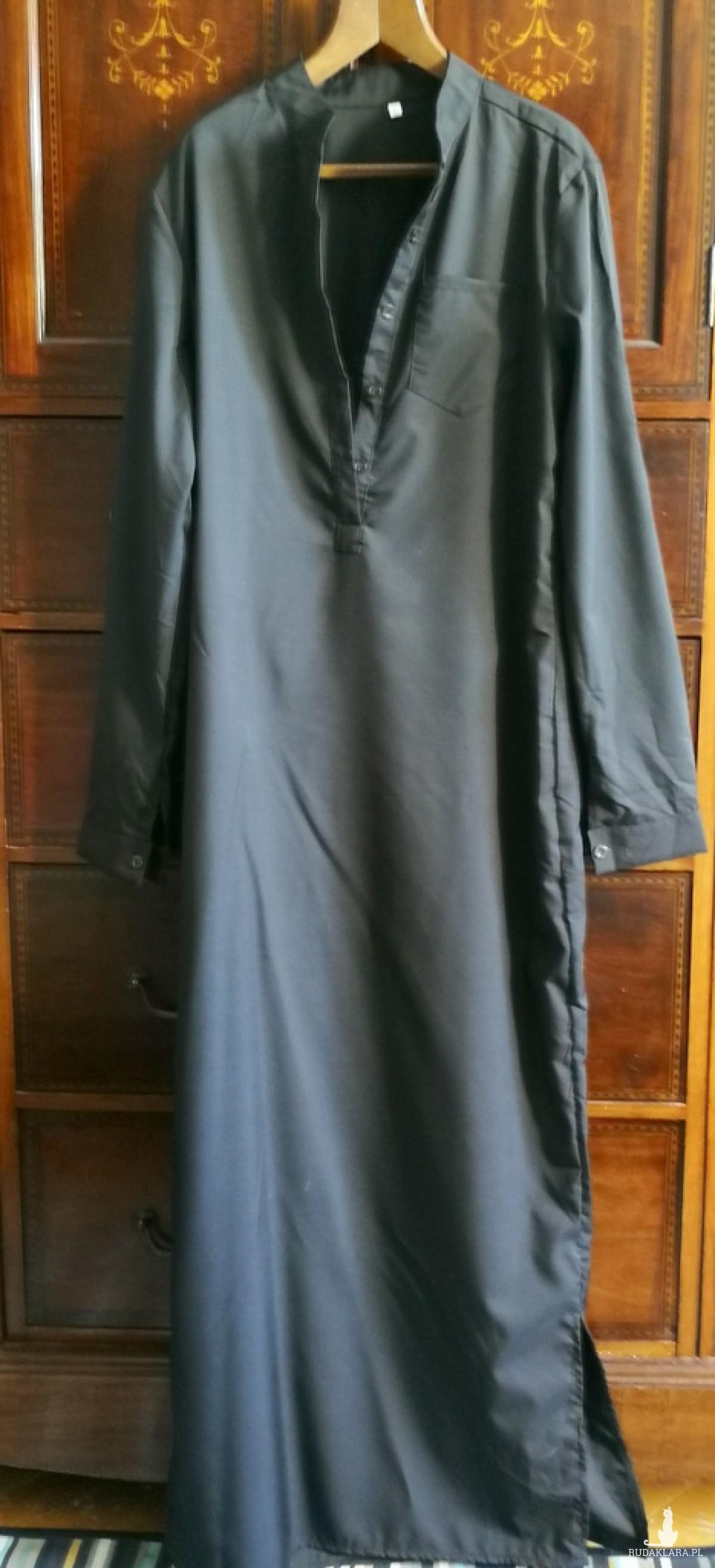 sukienka czarna szmizjerka koszulowa długa