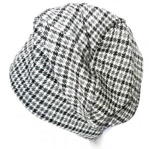 czapka z dzianiny w kratkę damska męska unisex