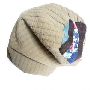 czapka pikowana ciepła zimowa boho