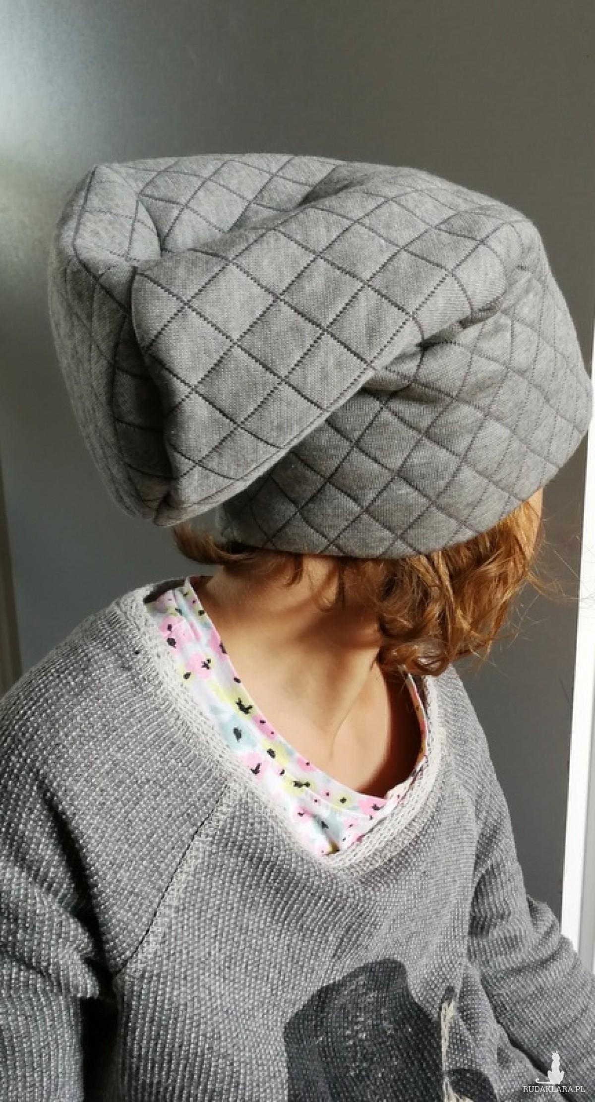 czapka dla dziecka szara unisex