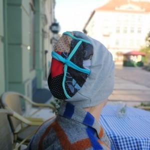 czapka damska szara patchwork sportowa